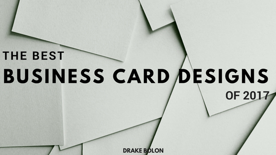 Best Business Card Designs of 2017